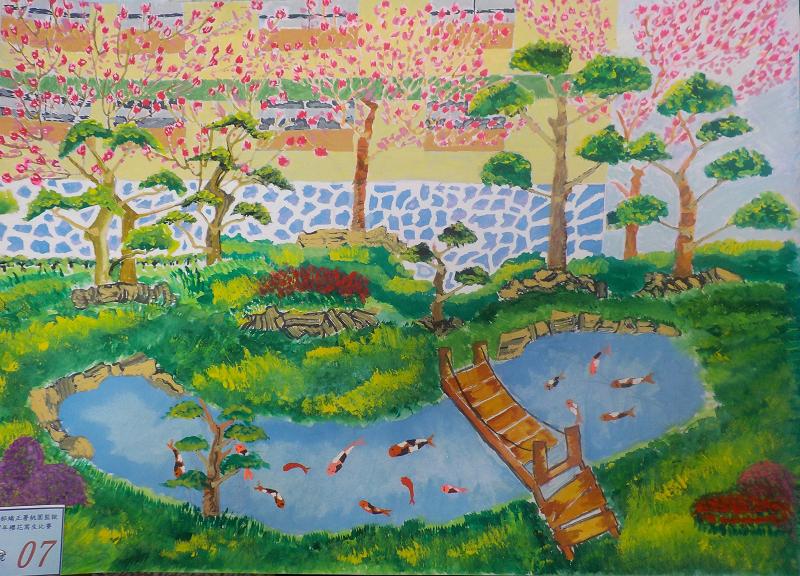 107年3月櫻花寫生比賽優勝作品7