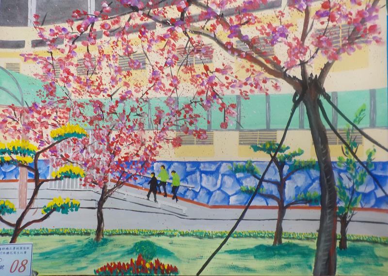 107年3月櫻花寫生比賽優勝作品6