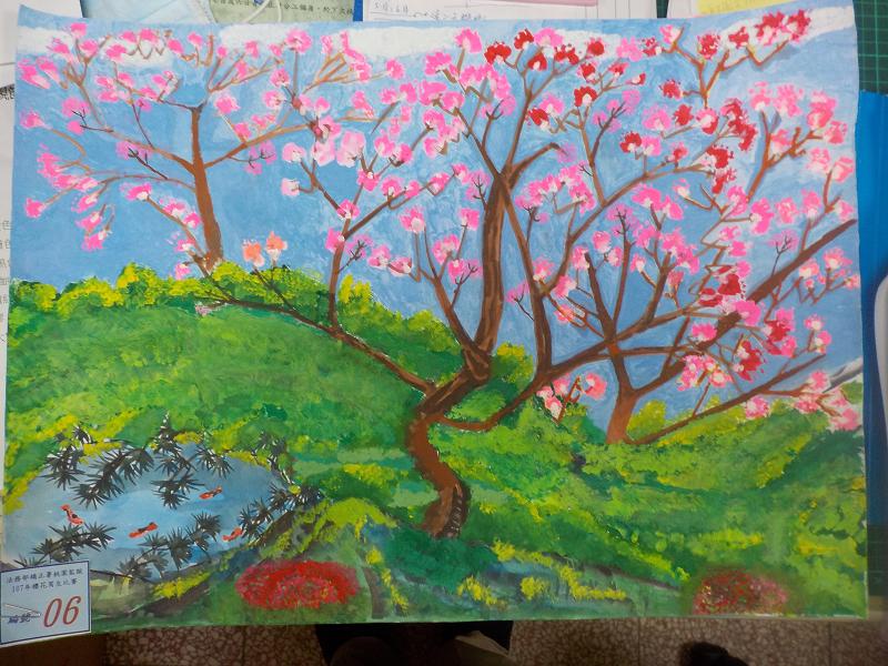 107年3月櫻花寫生比賽參賽作品16